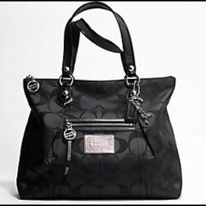 Coach Poppy Signature Sateen Glam Shoulder Bag